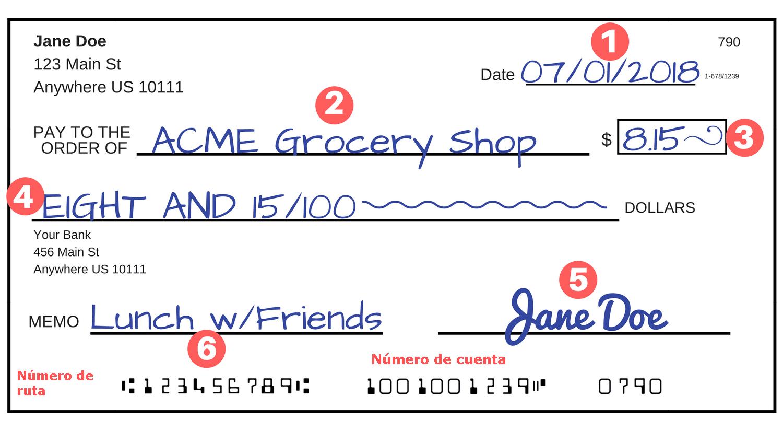 Número de ruta vs Número de Cuenta